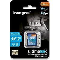 Integral 256 GB UHS-II SD-kaart V90 tot 300 MBs lezen en 265 MBs schrijven snelheid SDXC professionele hoge snelheid…