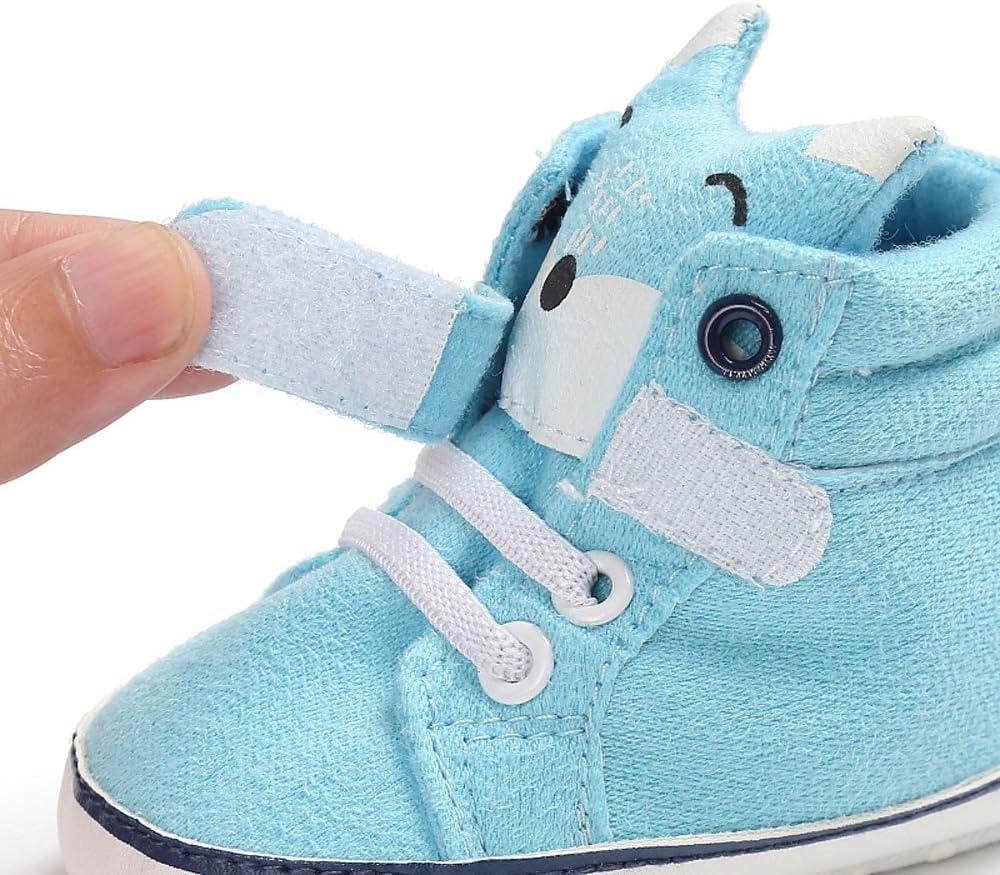 , Gray,Hot Pink, Khaki,Pink, Sky Blue Babyschuhe M/ädchen Jungen Schuhe Fox Sneaker Krabbelschuhe Kinderschuhe Moginp