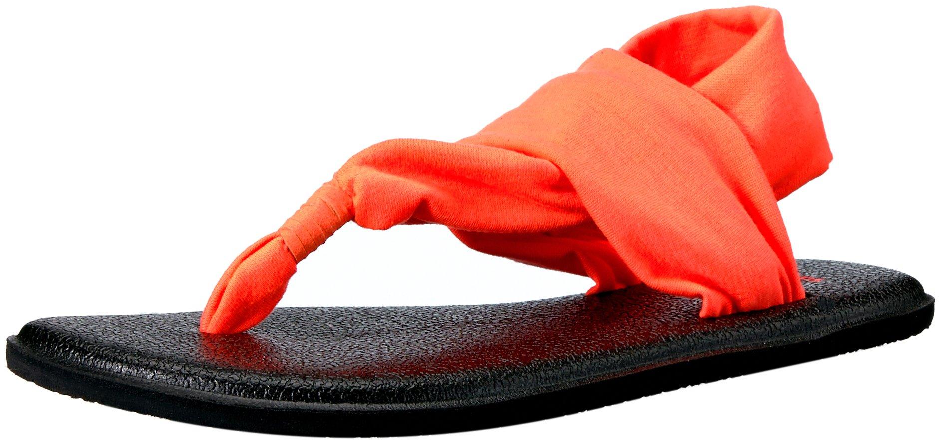 Sanuk Kids Yoga Sling Burst Sandal (Toddler/Little Kid/Big Kid), Tropical Papaya, 13/1 M US Little Kid