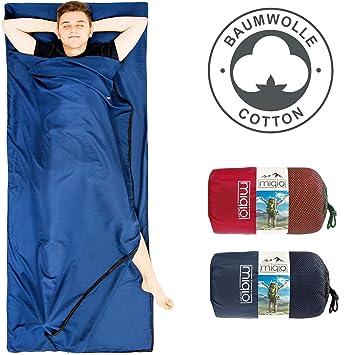 MIQIO 2 en 1 Saco de Dormir de algodón y Ligero tamaño XL Doble Cama de ...
