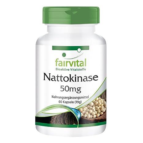 Nattokinase 50mg - VEGANO - Altamente dosificado - 60 ...