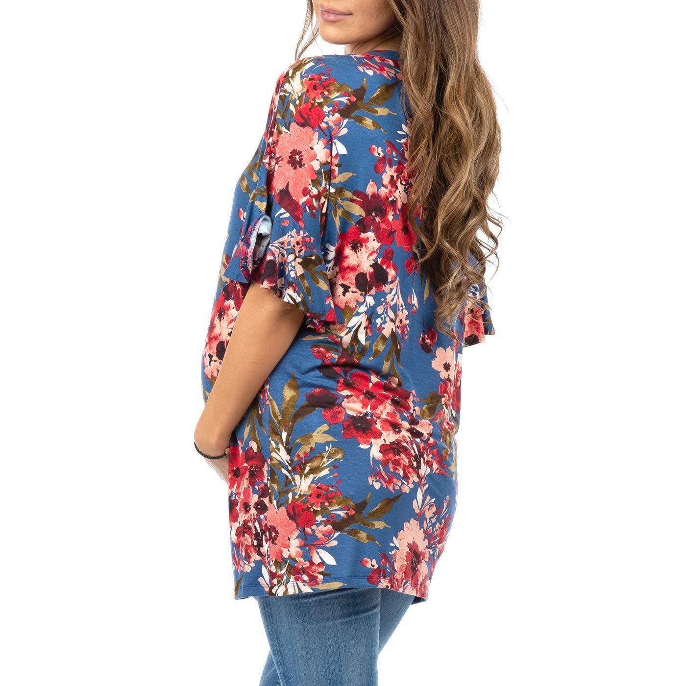Womens Ruffle Sleeve Maternity Tunic