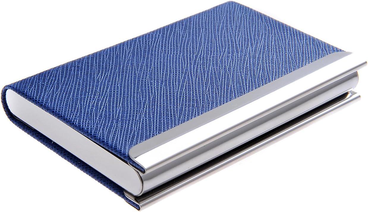 Quantum Abacus Port-Cartes///Étui pour cartes de visite en acier inoxydable et cuir PU avec fermeture magn/étique /él/égance intemporelle 701-04 Mod