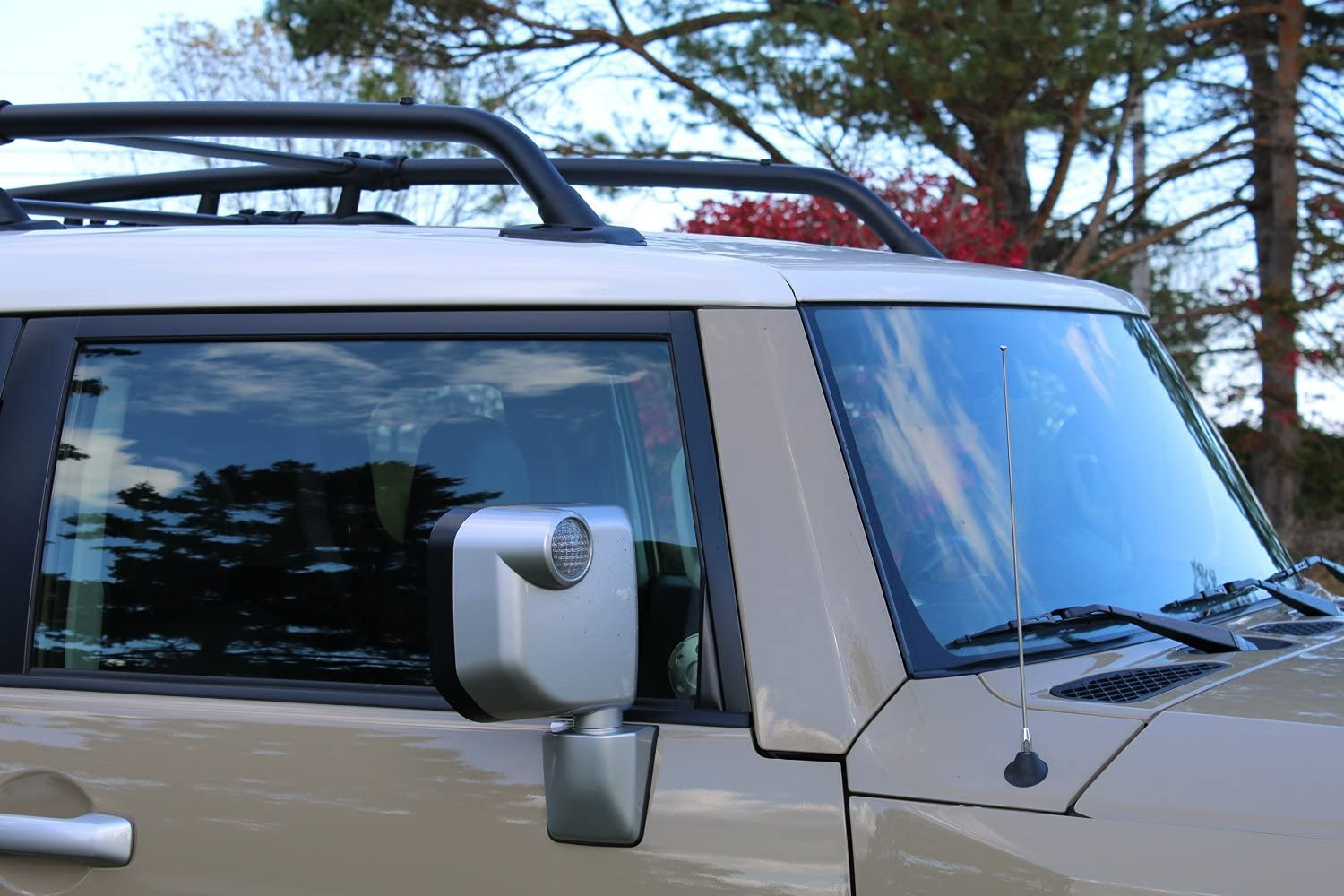 Made in USA 4 Inch Black Aluminum Antenna is Compatible with Ford E-250 Econoline AntennaMastsRus 1992-2015