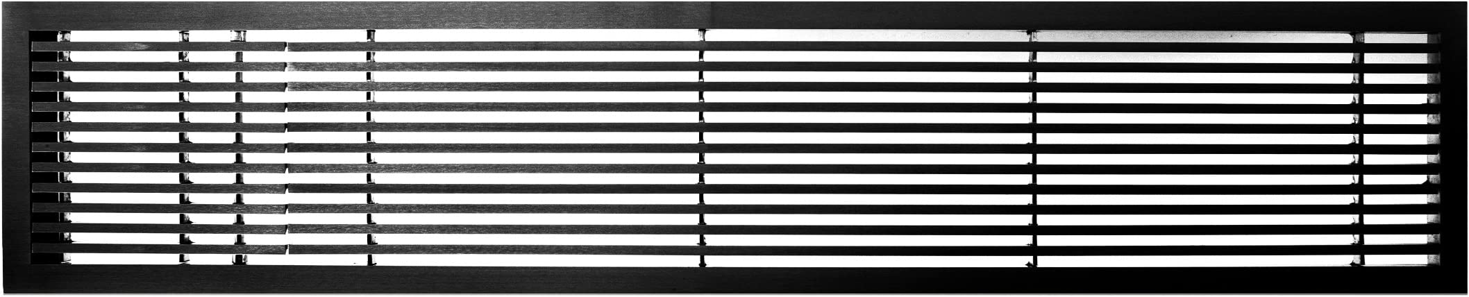 Black-Matte with Left Door Architectural Grille 200063634 AG20 Series 6 x 36 Solid Aluminum Fixed Bar Supply//Return Air Vent Grille