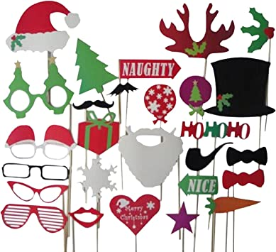 Palodone Party Wedding Christmas Photo Booth Props Mustache On A Stick