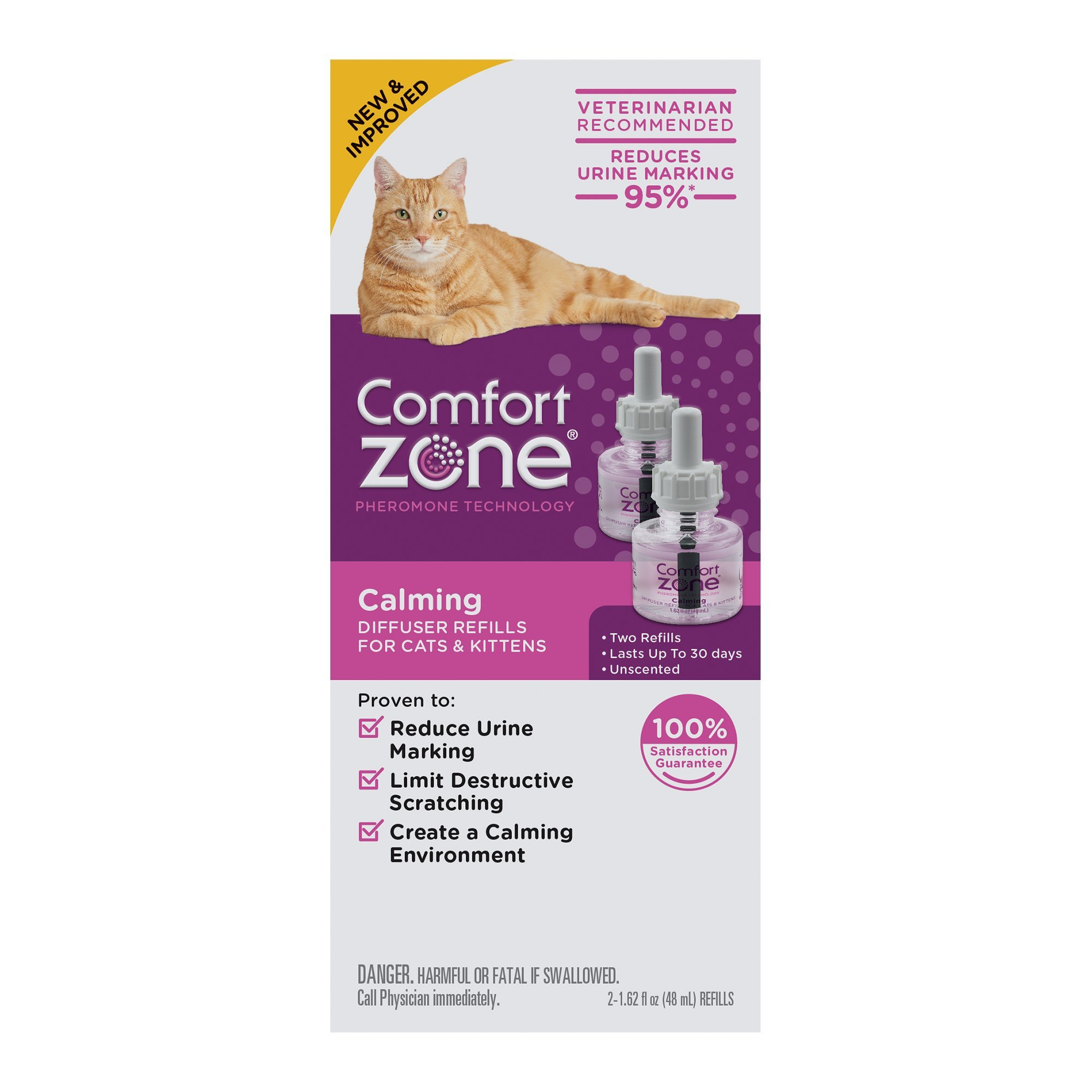Comfort Zone Calming Refill for Cat, 1.62 fl. oz., Pack of 2