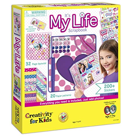 Amazon Creativity For Kids Its My Life Scrapbook Kit Toys Games