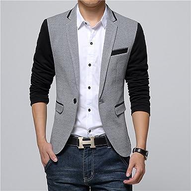 b9b2345fc71 Thadensama New Fashion Casual Men Blazer Cotton Slim Korea Style Suit  Blazer Masculino Male Suits Jacket