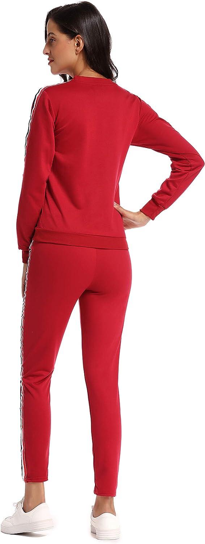 kefirlily Mujer Suéter de Punto Coloreado con Rayas en Color ...