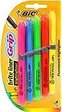 BIC Brite Liner Grip Highlighter, Chisel Tip, Assorted Colors, 5-Count
