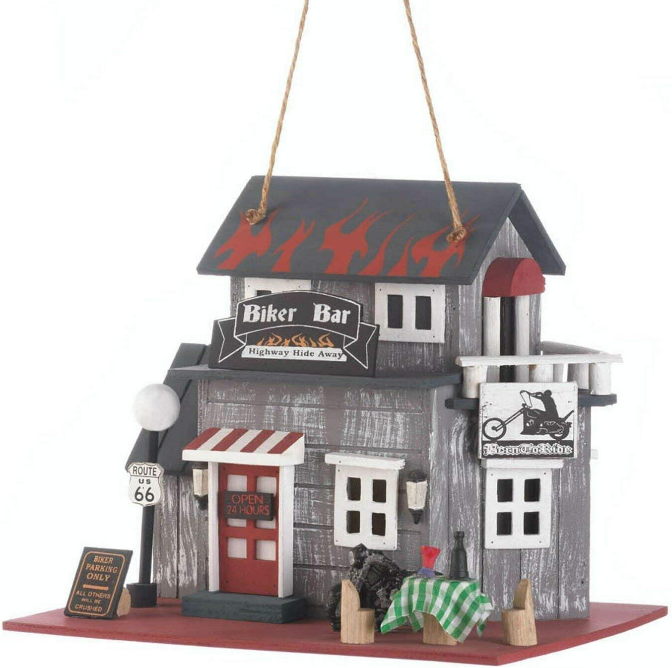 Koehler Home Decor Biker Bar Birdhouse