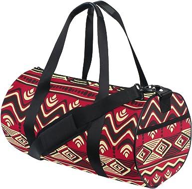 Gym Bag Sports Holdall Africa Woman Art Canvas Shoulder Bag Overnight Travel Bag for Men and Women