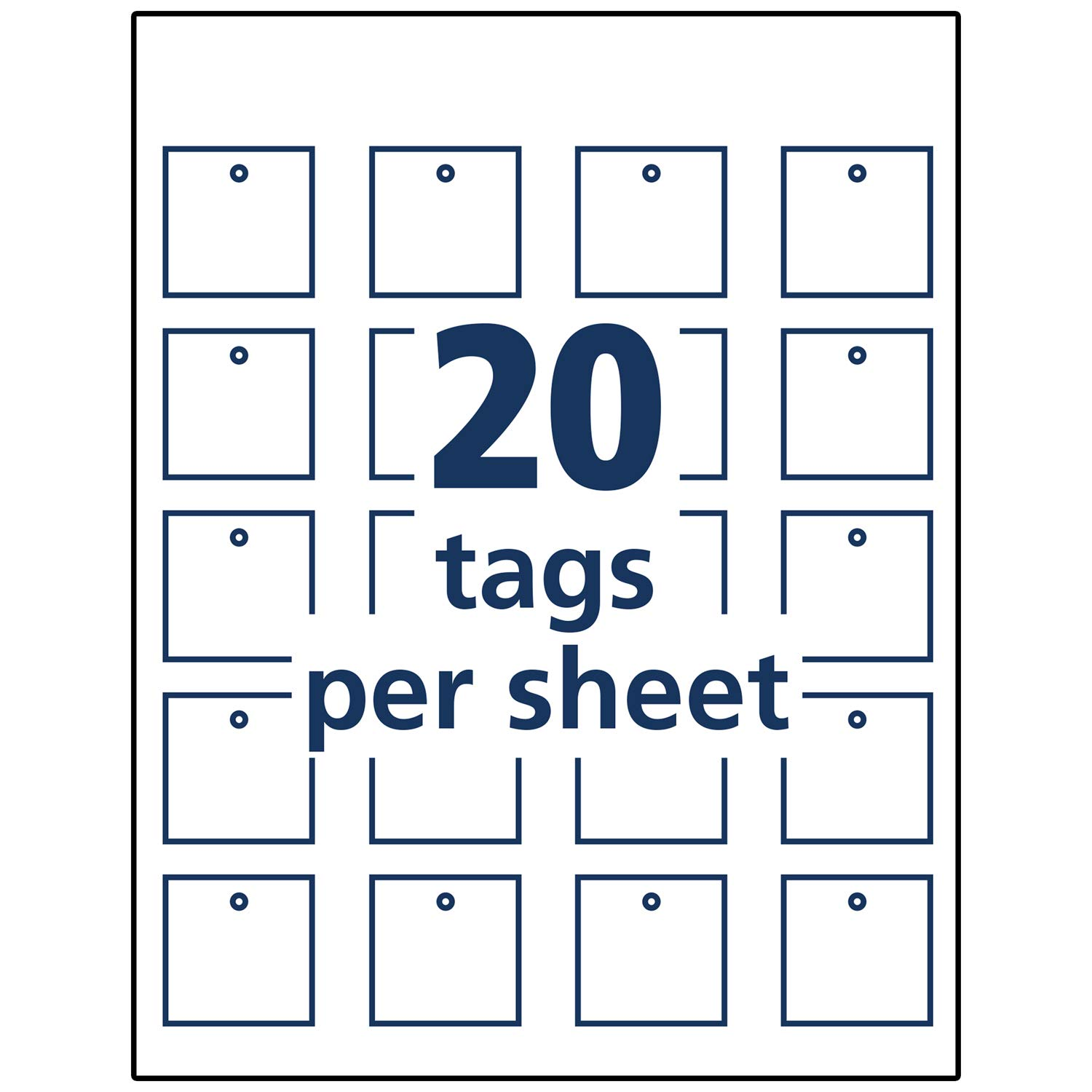 graphic regarding Printable Tags With Strings named Tags With Strings 200 Tags 22849 Avery Sq. Printable Tags