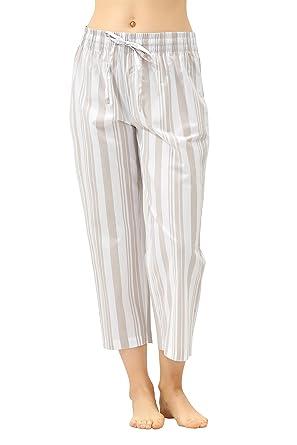 cc38ac601f0 CYZ Women s 100% Cotton Woven Pajama Capri at Amazon Women s Clothing store