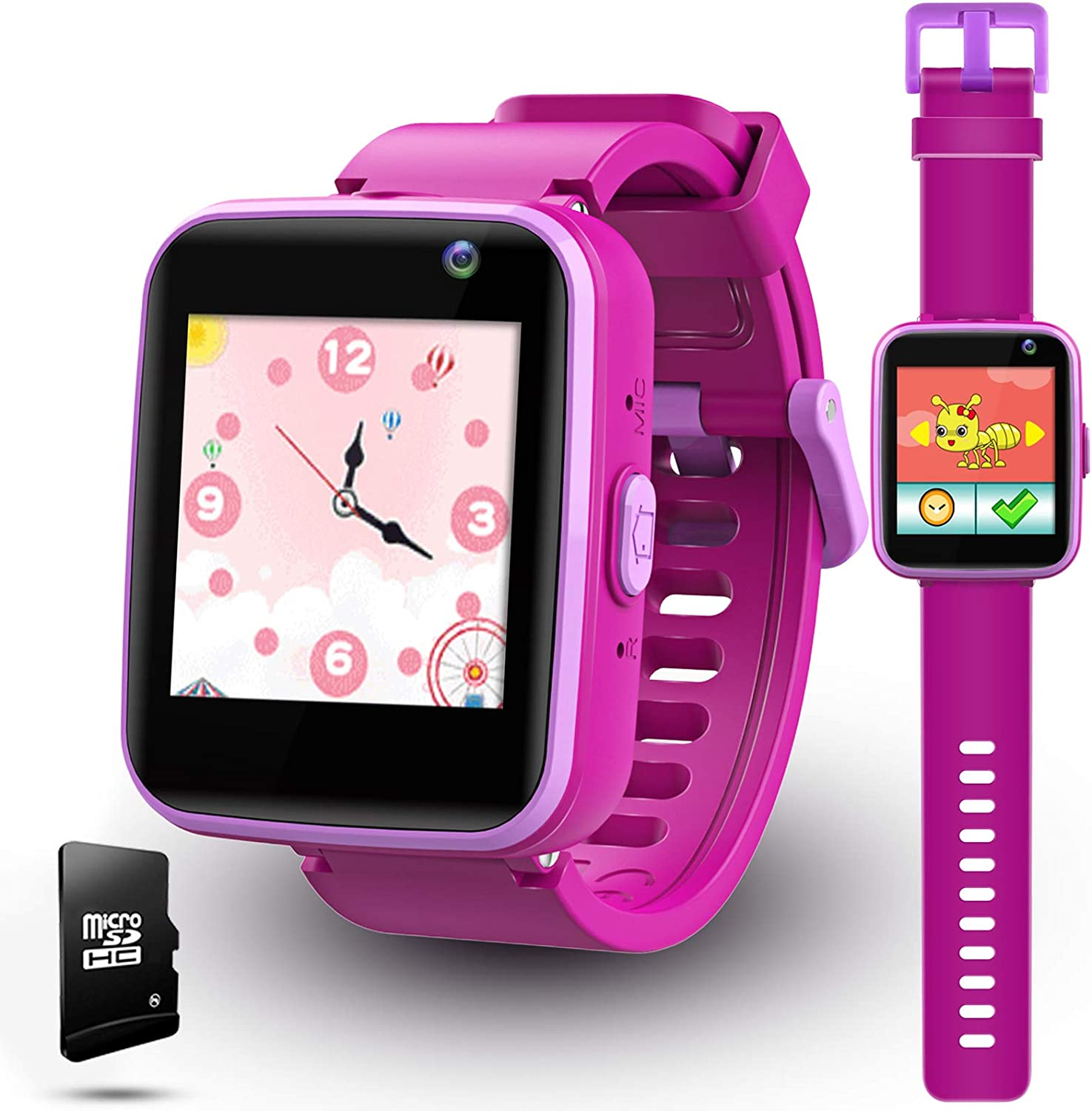 lzndeal Kids Smart Watch with Games, Kids Toys for Girlss Age 5-12 Year Old, Kids Watches Girls 5-7, Easter Toy Gift for Boy & Girls - (Purple)