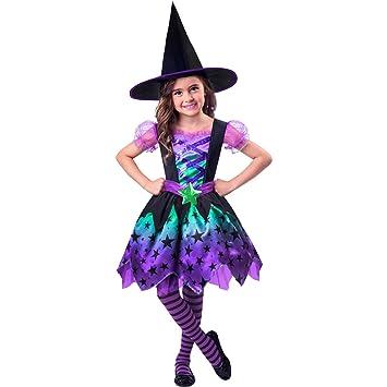 Girls Fancy Dress Halloween Costume Witch