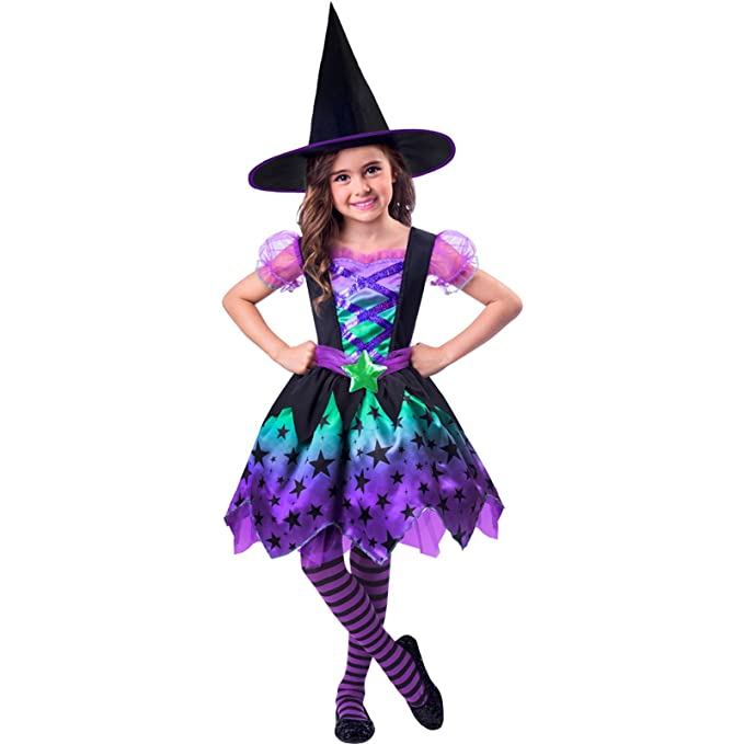 Vestiti Halloween Strega.Amscan Costume Da Strega Per Halloween Da Bambina