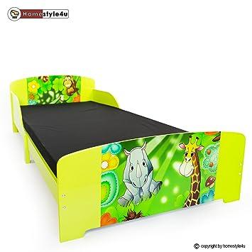 Kinderbett dschungel  Homestyle4u Kinderbett Jugendbett Juniorbett Dschungel Kinder Bett ...