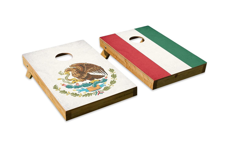 メキシコ国旗デザインCornhole/Bean Bag Tossボードセット – Made in USA with品質木製 – 2 ' x3 'テールゲートサイズ – Includes 8 corn-filled Beanバッグ B07DZXW784  Tailgate