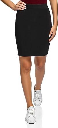 oodji Ultra Mujer Falda Básica de Punto: Amazon.es: Ropa y ...