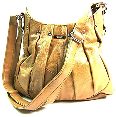e096b7ffe4 Ladies Bang On Trend Vintage handbag Tote Bag Soft Real Leather By Lorenz  3731 (Tan)  Amazon.co.uk  Shoes   Bags
