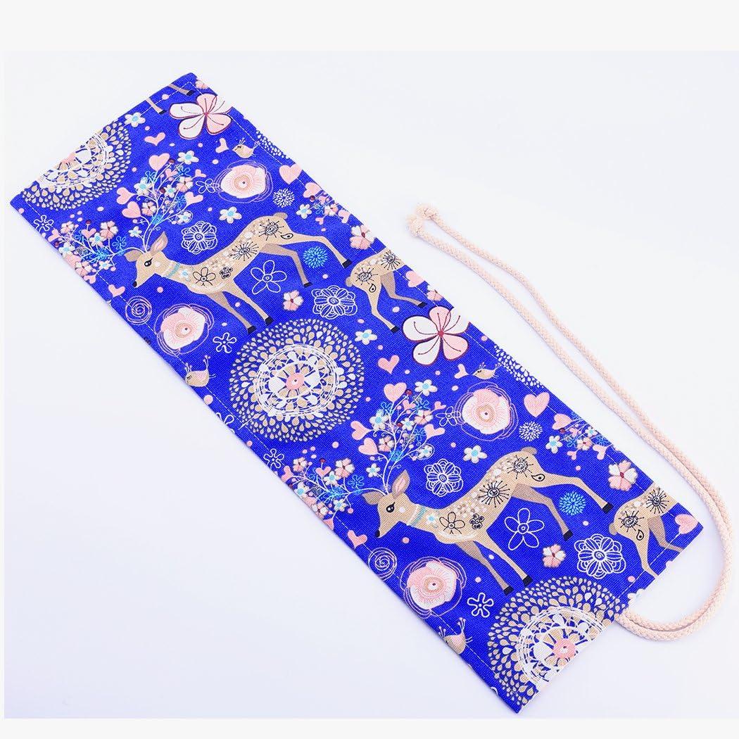 Borse nero cassa del supporto di matita viag portamatite arrorolabile per 72 matite colorate Tela wrap con perline Amoyie