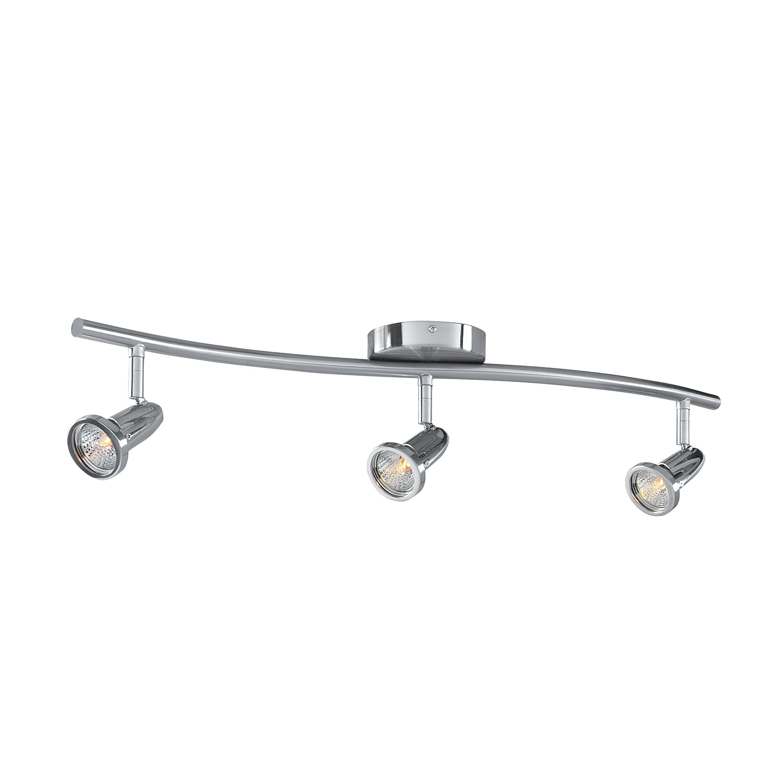 Cobra - LED Wall/Ceiling Semi-Flush Spotlight Bar - 3-Light - Brushed Steel Finish