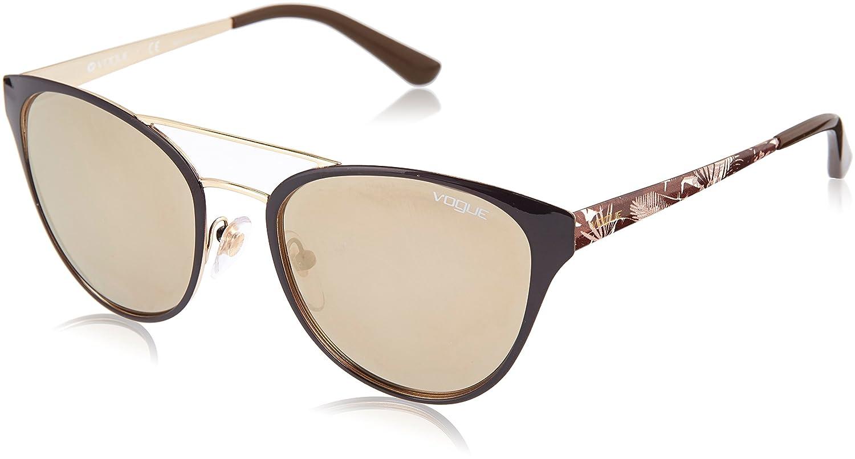 Vogue 0Vo4078S Gafas de sol, Mariposa, 53, Brown/Pale Gold ...