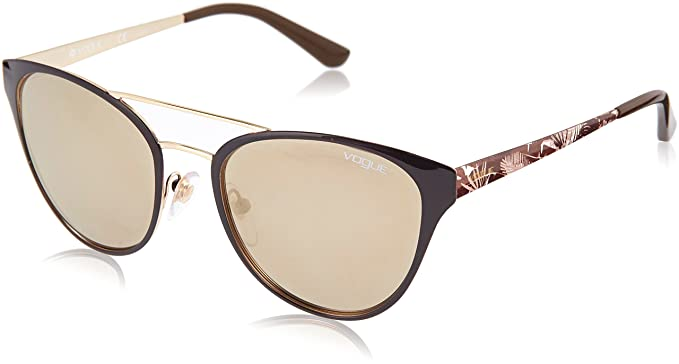 Vogue 0Vo4078S Gafas de sol, Brown/Pale Gold, 53 para Mujer ...