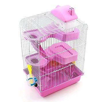 Pet Online Hamster jaula de lujo de tres pisos hamster más ...