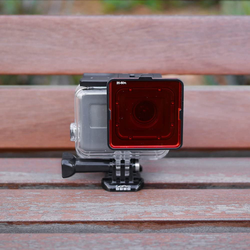 Accesorios de Buceo y Snorkel 5 Pack Set de filtros Rojo Magenta y Amarillo Sandmarc Aqua Filter: Filtro de Buceo para GoPro