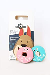 BoxDog Handmade Dog Cookies   Dog Gift Box with only 5 Ingredients   Dog Treats You Can Eat Too!