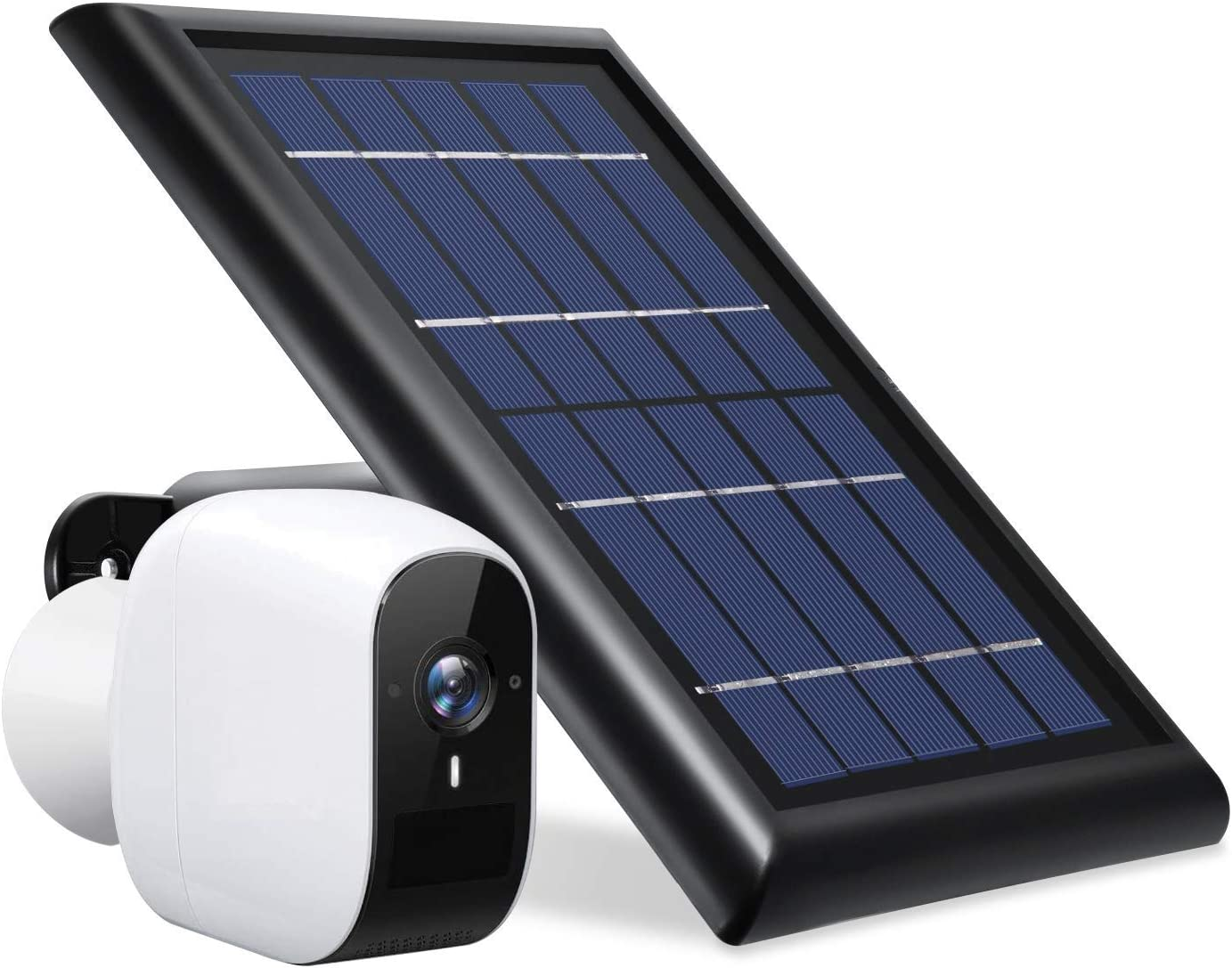Wasserstein Solar Panel Compatible with eufyCam E Wireless Security Camera ONLY - Power Your eufyCam Surveillance Camera Continuously (Black) (NOT Compatible with eufyCam 2/2C)