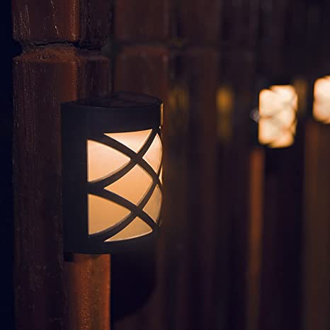 [Warm Light] Solar Light For Wall, Porch, Garden, Fence, Path