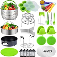 87 Pcs Pressure Cooker Accessories Set Compatible with Instant Pot Accessories 6 Qt 8 Quart, 2 Steamer Baskets…