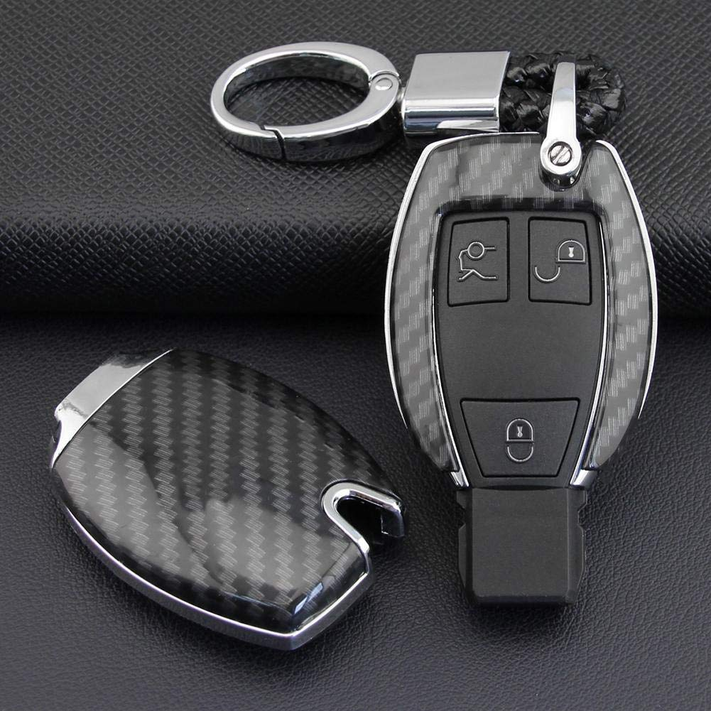 Car Remote Control Protector Cover Shell Fob Bag Holder ABS Hard Shell Cover Parts Fit for Mercedes-Benz 2013-2018 A-Class W176 Sustainable Xeroy Car Key Case for Mercedes-Benz