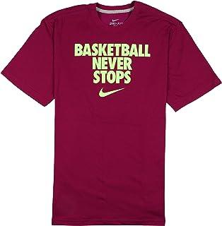 66dbb124 Nike Men's Basketball Never Stops Dri-FIT T-Shirt X-Large Purple Green