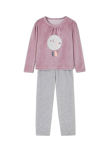 9611f7701 VERTBAUDET Pijama de terciopelo niña Violeta Medio Liso Con Adorno 12A:  Amazon.es: Ropa y accesorios