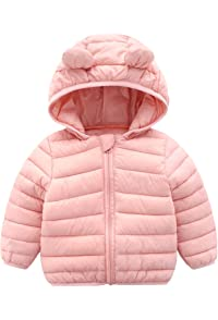New Durable In Use Baby Girls Pink Fur Hooded Jacket With Ears Next Age 3-6 Months