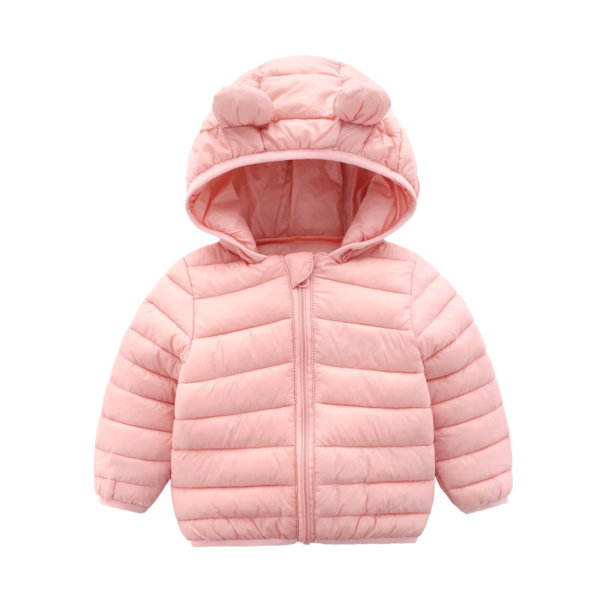 Kids4ever Baby Coat Winter Hooded Puffer Jackets 0-36 Month Girls Boys Lightweight Warm Zipper Jacket Outwear