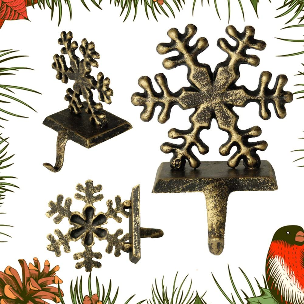 Santa 1 Pezzo ZhongYe per Calza di Natale Ganci Vintage Renna Pupazzo di Neve Babbo Camino Hanger Natale addobbi