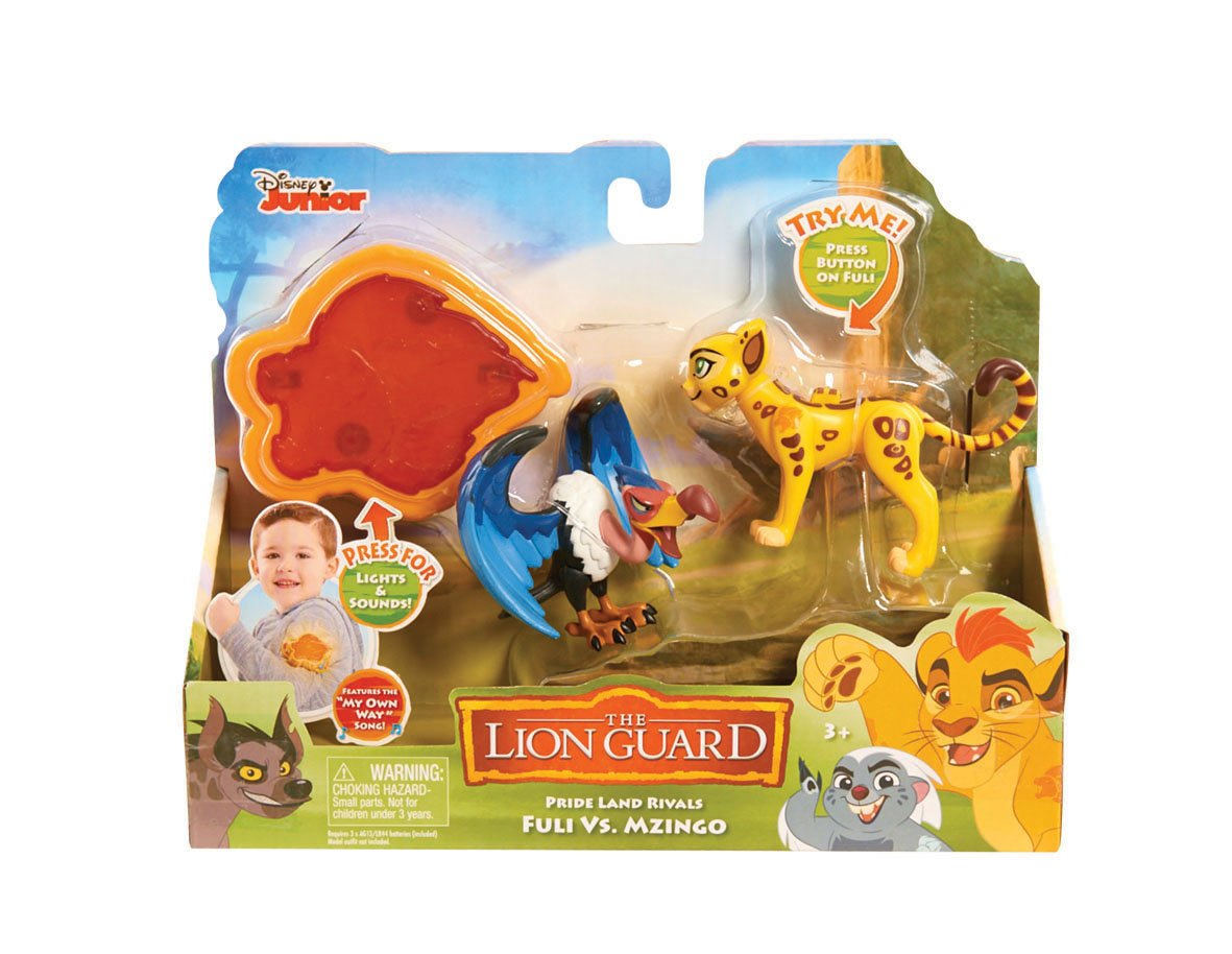 Just Play LG Rival Fuli vs Mzingo Figures with Arm Band Import JPL77294 Just Play 2 Pack