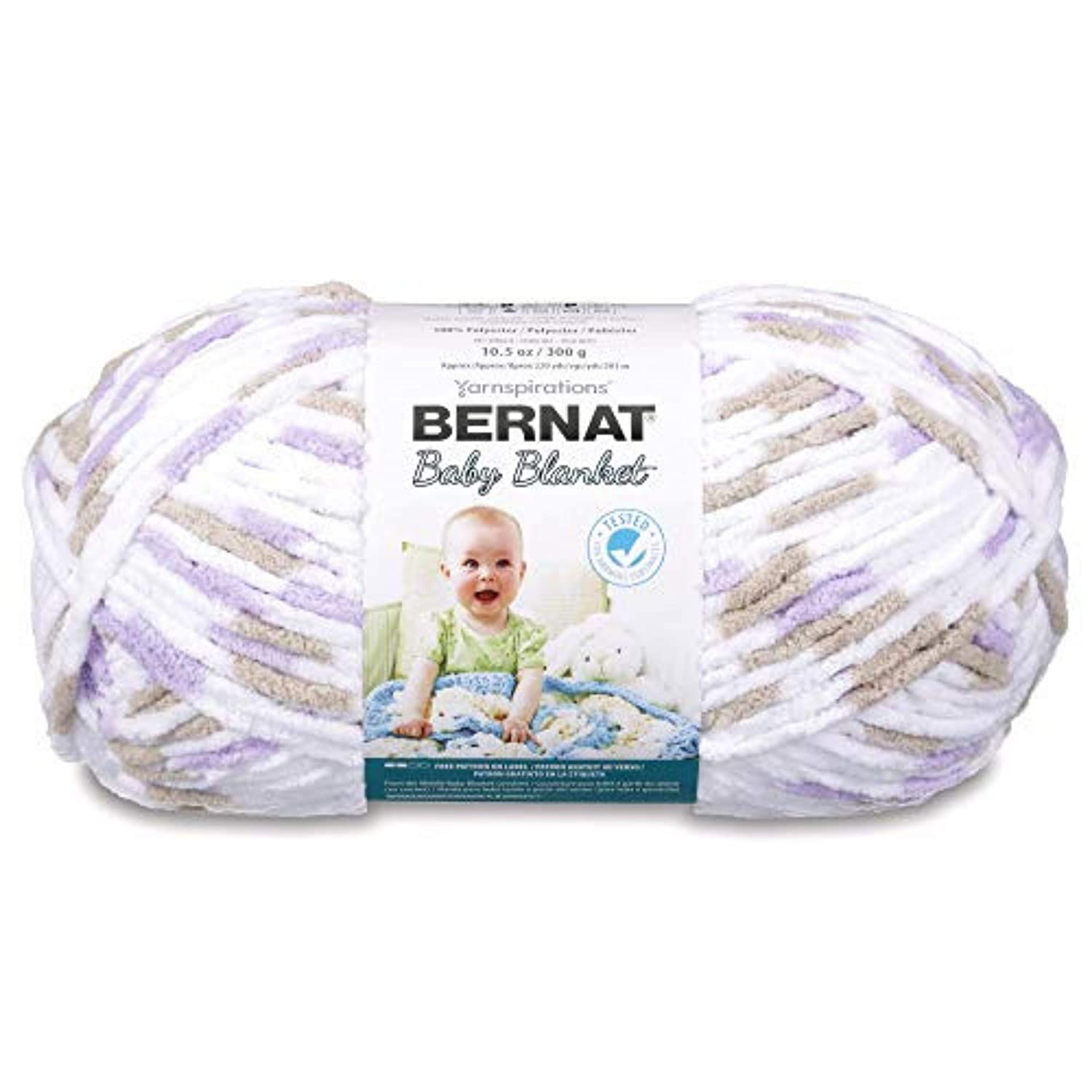 10.5 oz Single Ball Machine Wash /& Dry Bernat 16110404325 Baby Blanket Yarn - Beach Babe Super Bulky Gauge 6