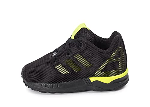 00eb6670c87ec adidas Boys Originals Infant Boys ZX Flux Trainers in Black Yellow - 3infant