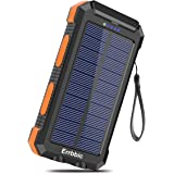 Solar Charger 30000mAh Portable Solar Power Bank for External Backup Battery Power Pack Charger Built-in Type C Input Port an