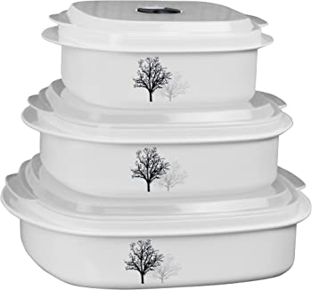 6-Piece Corelle Coordinates Microwave Safe Cookware/Storage Set