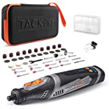 TACKLIFE Cordless Rotary Tool Powerful 8V Motor 2.0 Ah Li-ion Battery with 43 Accessories and Shield Attachment, Long…
