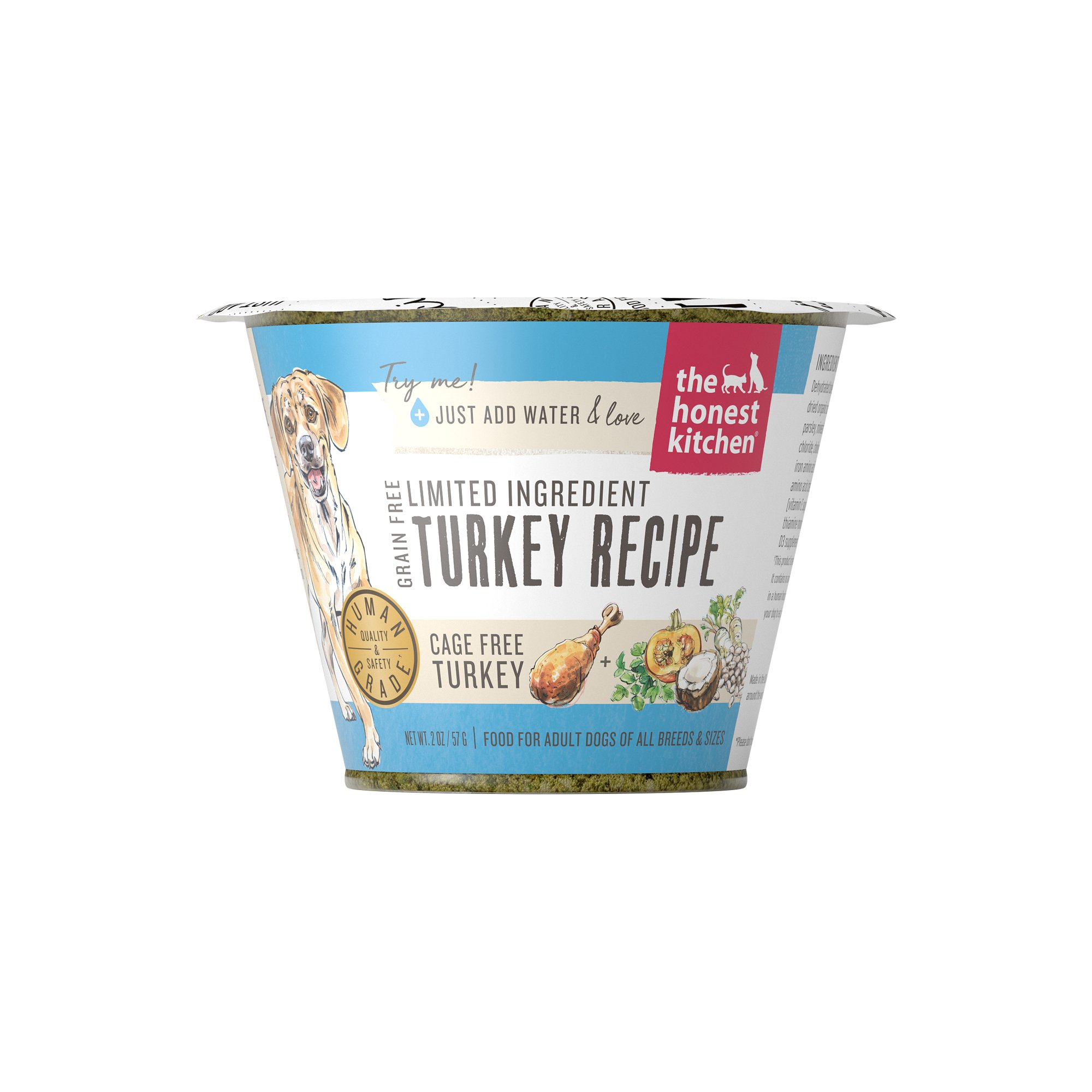 Honest Kitchen The Limited Ingredient Turkey Recipe Food Dogs (12 Pack), 1.75 oz