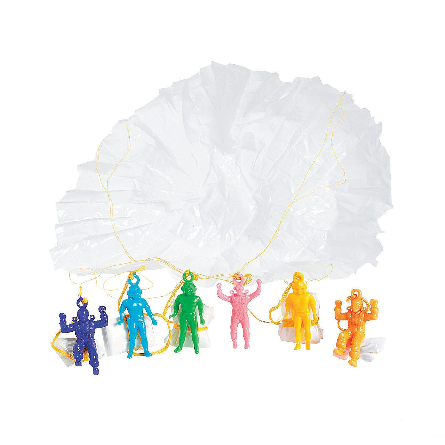 Mini Vinyl Paratroopers - Pack Of 24 - 1.75 Inches Assorted Colors Cool Airborne Action Figures - For Kids Great Party Favors, Bag Stuffers, Fun, Toy, Gift, Prize - By Kidsco